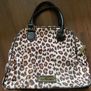 Betsey Johnson large bow leopard bag